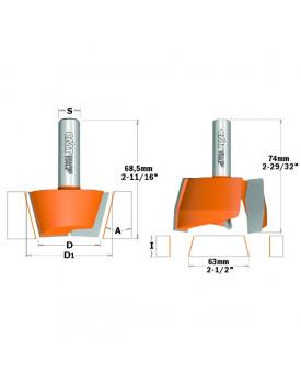 Set di frese per riparazioni su materiali compositi