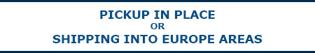Shipping or pickup products into all europe areas